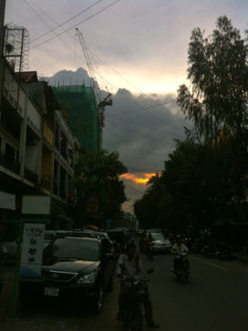 Sunset over Phnom Penh