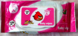Angry Birds Cambodia Packaging Design Baby Wipes