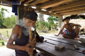 Smoking weed in Cambodia