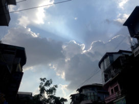 Dramatic Evening Sky Over Phnom Penh