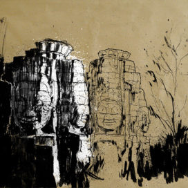 Blasco – Pen, Ink and Charcoal Drawings Of Angkor Wat 01