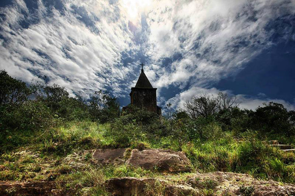 Bokor Hill Station Old Church 01