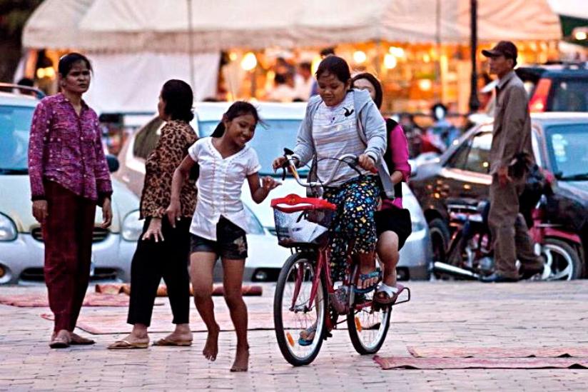 Gleeful, happy Cambodians.