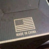 American Flag on Made in China Packaging