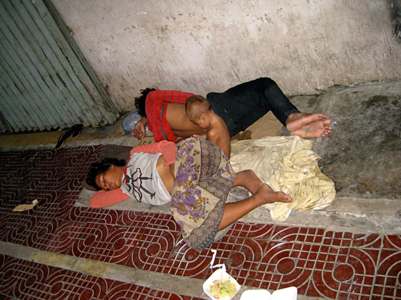 Cambodian Moments Poverty Sleeping On The Streets