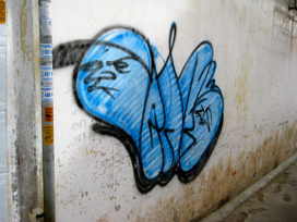 Cambodian Moments Graffiti Worm