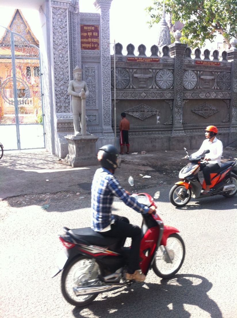 Urinating Cambodian