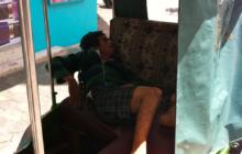 Cambodian Moments Sleeping in tuk tuk