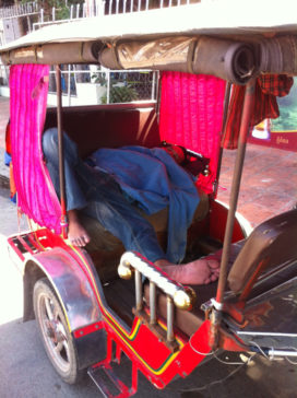 Nap time for tuk tuk phnom penh