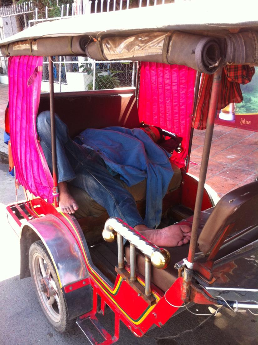 Nap time for tuk tuk phnom penh
