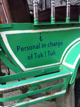 I Personal In Charge Of Tuk Tuk