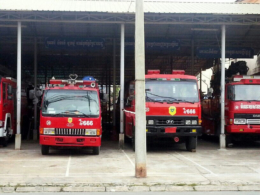 Fire trucks in Cambodia 666