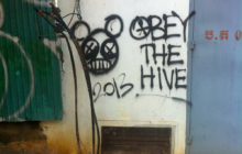 Phnom Penh Graffiti Obey the Hive