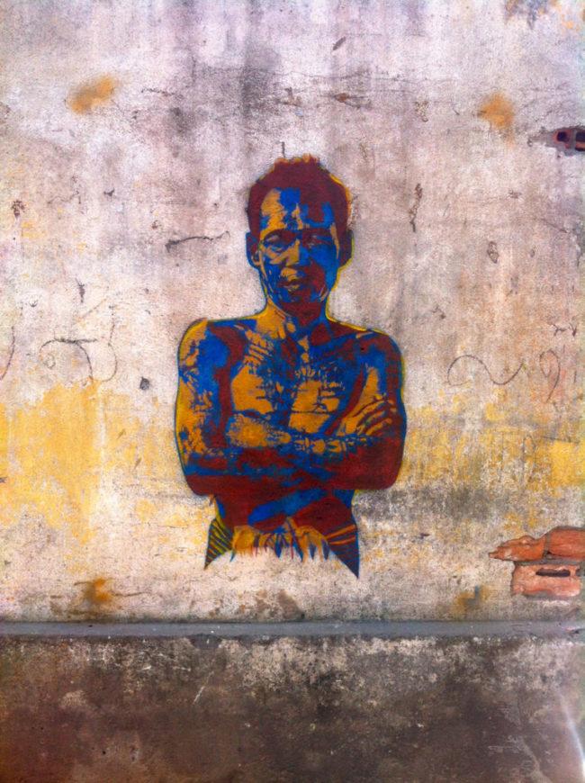 Graffiti on Street 19 Phnom Penh