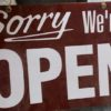 Sorry we're open