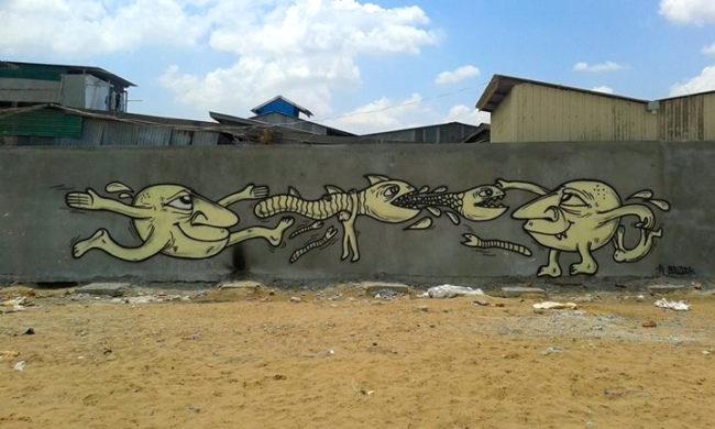 Graffiti Phnom Penh, Cambodia—ATEEK