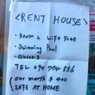House for rent with free wife!