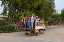Cambodian Workers Commute
