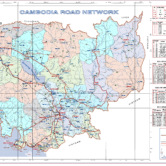 The Cambodian Ministry of Public Works and Transport – A Tidy Map of the National and Provincial Roads of Cambodia