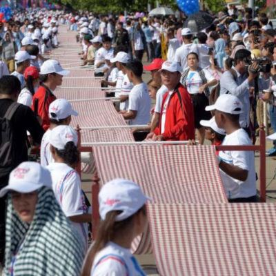 Cambodia's 1,149.8m Krama gains Guinness World Records