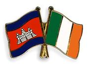 Cambodian & Irish Flags