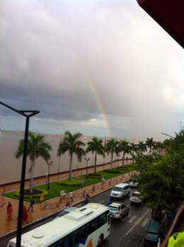 Rainbow on the Riverside Phnom Penh