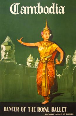 Vintage Poster ~ Royal Ballet Cambodia