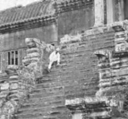 Vintage Angkor Wat Photograph - Close Up