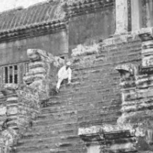 Angkor Wat Circa 1866 ~ Who's The Dude In The Boilersuit and Hard Hat?
