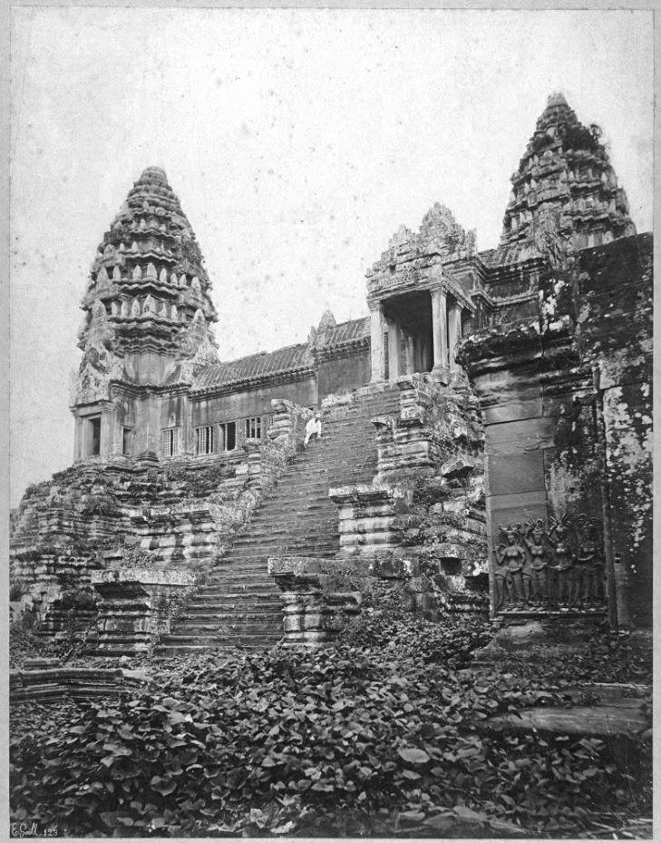 Angkor Mystery. Angkor Wat Circa 1866 ~ Who's The Guy In The Boilersuit?