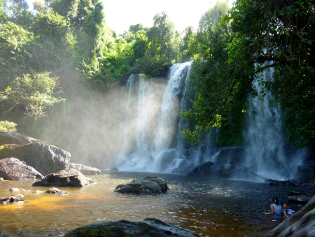 Phnom Kulen Waterfall, outside Siem Reap, Cambodia