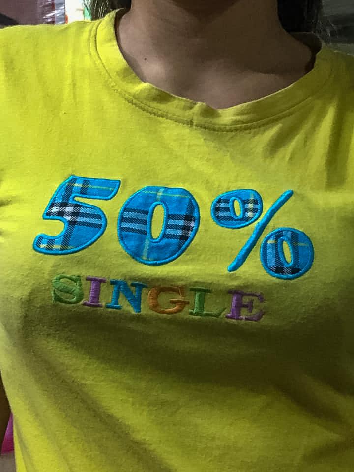 50 per cent single