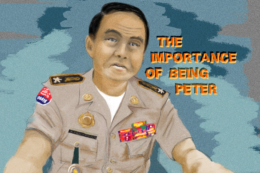 The importance of being Peter. illustration of Khmer Cop