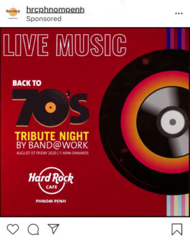 Hard Rock Cafe Phnom Penh Ad